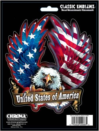 卓越 ステッカー USAイーグル USA w Eagle デポー イーグルス アメリカ アメリカン カーアクセサリー アメリカ国旗 フラッグ 国旗 9986