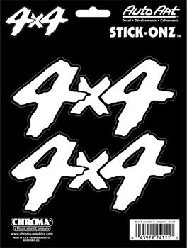 ステッカー 4×4 ホワイト 4x4 スケートボード スケボー スマホ PC 店舗 タブレット 楽器 カーアクセサリー 宅配便送料無料 白 四駆 24111 3pc ギター アメリカン White