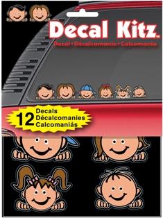 ステッカー ヘッズファミリー カラー ファミリーステッカー Heads Family 再再販 アメリカン Decal Kit 2020 スティックピープル カーアクセサリー