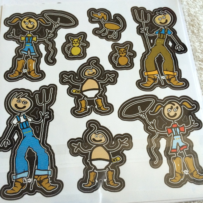 The curious george stickers we offer