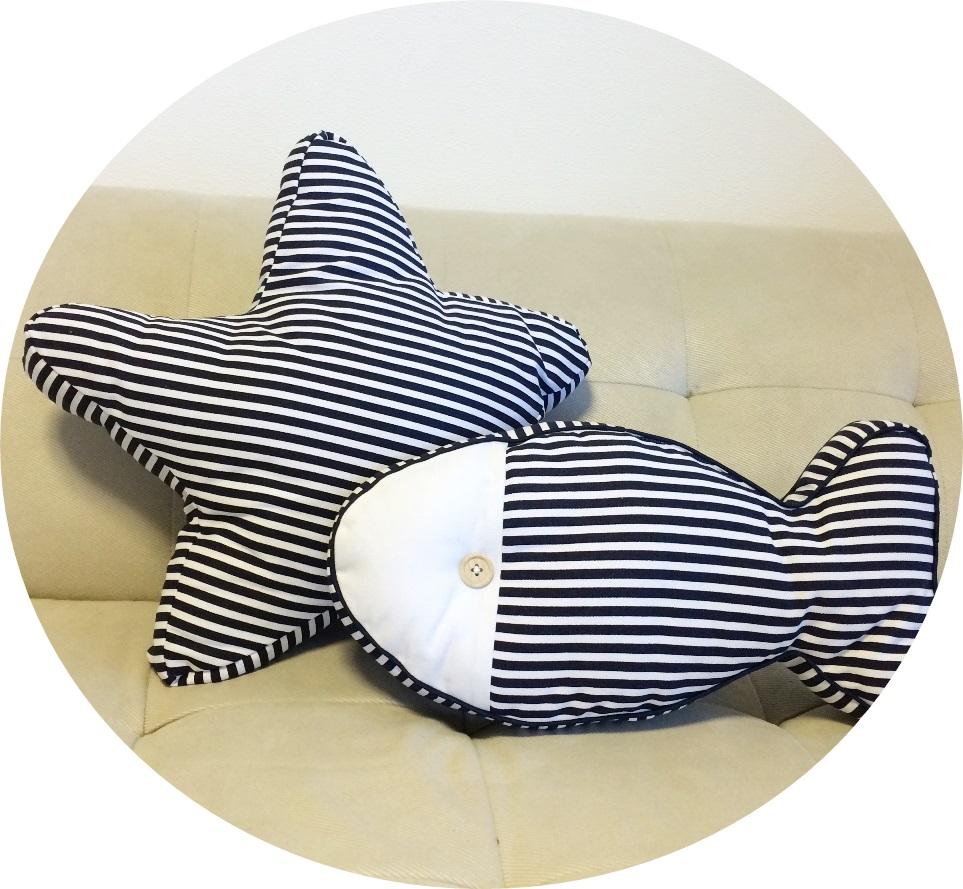 クッション クッションカバー 星 魚 マリン 開店記念セール ストライプ ビーチ 送料無料 最安値に挑戦 スター プール