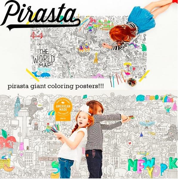 USA発 塗り絵 大型 ぬり絵 ぬりえ 大きい 国内正規総代理店アイテム ポスター いよいよ人気ブランド ピラスタ Pirasta Big 誕生日プレゼント apple ビッグサイズ ビッグアップル
