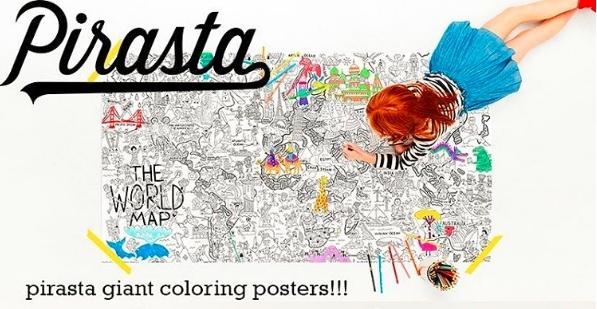 USA発 塗り絵 大型 売れ筋ランキング ぬり絵 ぬりえ 大きい ポスター メーカー直送 ビッグサイズ a What Pirasta 誕生日プレゼント カラフルワールド colorful world ピラスタ