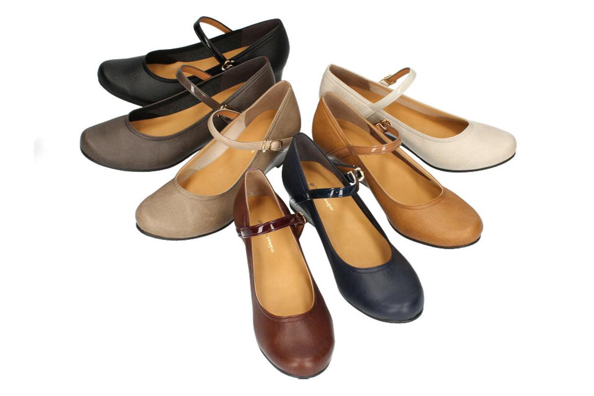 神戸の靴屋 神戸 MADE IN JAPAN 痛くなりにくい 長時間歩ける 走れる 日本製 パンプス 痛くない リクルート 歩きやすい 通勤 マーレマーレ ローウェッジパンプスSD00640 ローヒール ストラップ 立ち仕事 公式ショップ maRe いよいよ人気ブランド 冠婚葬祭 営業 フォーマル