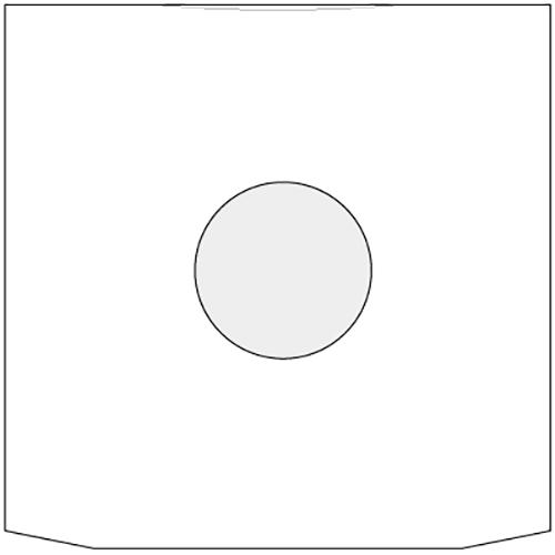 ベーレンプラッテ LPレコード内袋 紙製 グラシン付き 両穴 50枚セット /マルゲリータ