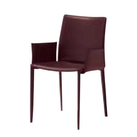 遠藤照明 家具 椅子 レザーチェア LINDA(ダークブラウン)チェア/チェアー/CHAIR/イス MBC0009BD AbitaStyle(アビタスタイル) /マルゲリータ
