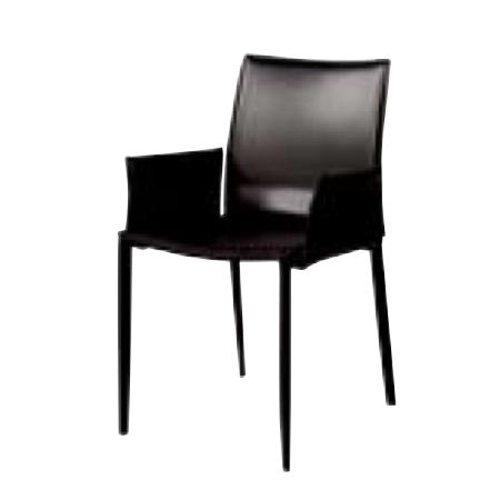 遠藤照明 家具 椅子 レザーチェア LINDA(ブラック)チェア/チェアー/CHAIR/イス MBC0009BL AbitaStyle(アビタスタイル) /マルゲリータ