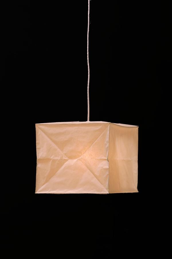 イサムノグチ akari イサム・ノグチ デザイナーズ照明 あかり アカリ ISAMU NOGUCHI 和紙照明 ペンダントライト 器具(コード105cm)付 40XP-CO10 / ペンダントタイプ(ランプシェード シェードランプ ペンダントライト 吊り下げ式 照明器具)