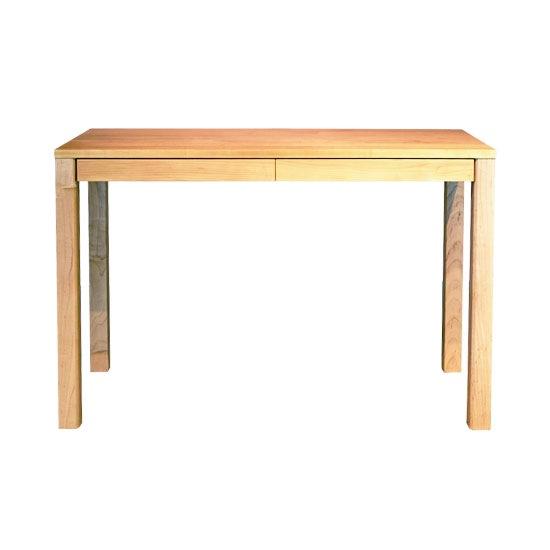 木と風 デスク 角脚 引き出し付き W1008 メープル(コンソールデスク コンパクト 薄型 テーブル 机 無垢 国産 日本製) /マルゲリータ