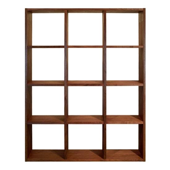 木と風 本棚 H1340 ウォールナット(オープンシェルフ ブックシェルフ ディスプレイラック 国産 日本製) /マルゲリータ