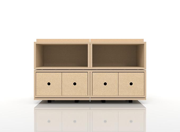 CDラック おしゃれ 大容量 インテリア・寝具・収納 収納家具 CD・DVD・オーディオ収納 CDラック 木製ラック(BLC-CDS×2、BLC-16HA×1、BLC-16HA-TA×1、BLC-04-S×2)/卓上で使う収納 奥行き深め:BLC組み合わせ例 /マルゲリータ