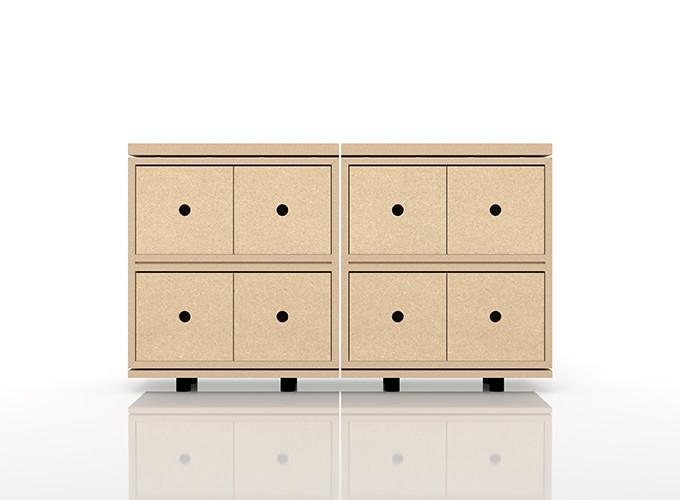 CDラック おしゃれ 大容量 インテリア・寝具・収納 収納家具 CD・DVD・コミック・オーディオ収納 CDラック 木製ラック(BLC-CDS×2、BLC-04F-TA×2、BLC-02-S×2)/卓上で使う収納 奥行き浅め:BLC組み合わせ例 /マルゲリータ