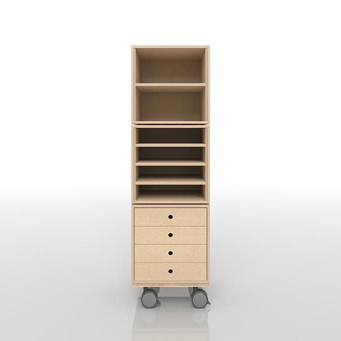 A4書類の収納 レコード棚 キャスター付き キャスター おしゃれ 大容量 インテリア 収納 収納家具 CD DVD コミック 木製ラック(BLC-08-G2×1、BLC-08-G×1、BLC-08-T4×1、BLC-08-BX×1)/床に置いて使う収納 奥行き深め:BLC組み合わせ例 /マルゲリータ