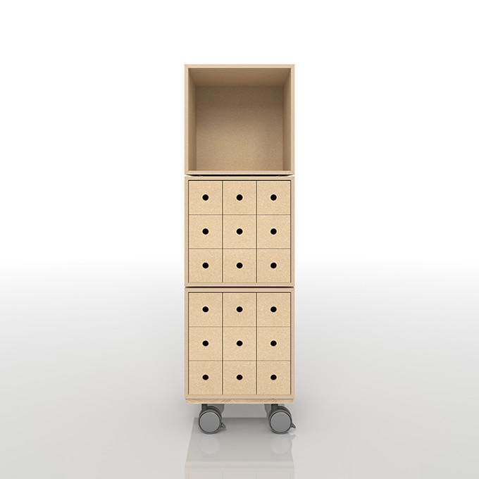 小物の収納 レコード棚 キャスター付き キャスター おしゃれ 大容量 インテリア 収納 収納家具 CD DVD コミック 木製ラック(BLC-08×1、BLC-08×TI×2、BLC-08-BX×1)/床に置いて使う収納 奥行き深め:BLC組み合わせ例 /マルゲリータ