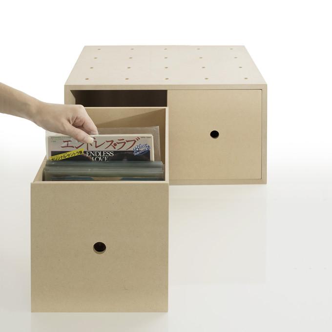 Vinyl record storage drawer storage boxes wood ? EP records 7-inch record shelves record storage shelves records storage record rack record storage shelves ...  sc 1 st  Rakuten & margherita | Rakuten Global Market: Vinyl record storage drawer ...