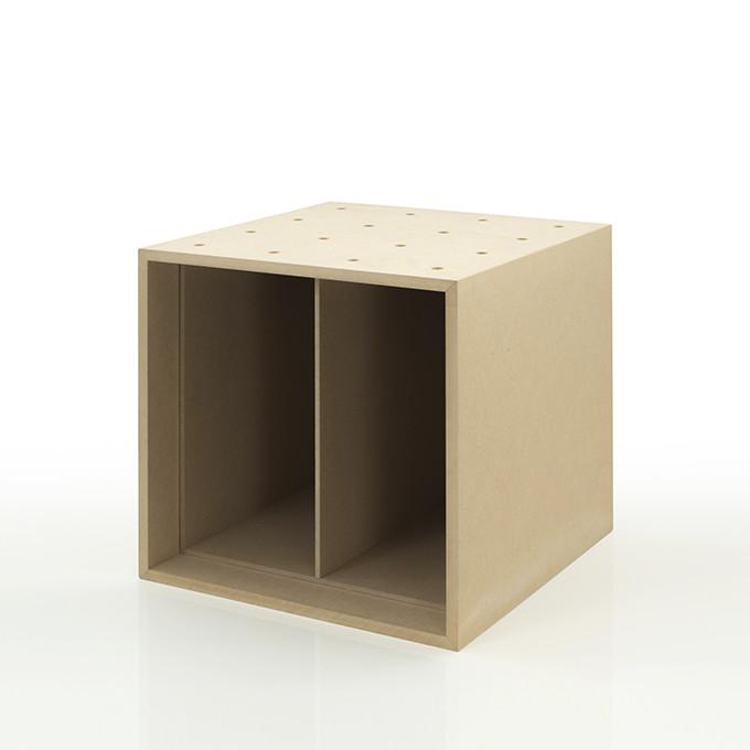 レコード収納ボックス 仕切り付き 木製 一部予約 レコード棚 ハイクオリティ レコードラック カラーボックス ストレージボックス キューブボックス PCP マルゲリータ ボックス キューブ BLC-08-D2 ラック スタッキング