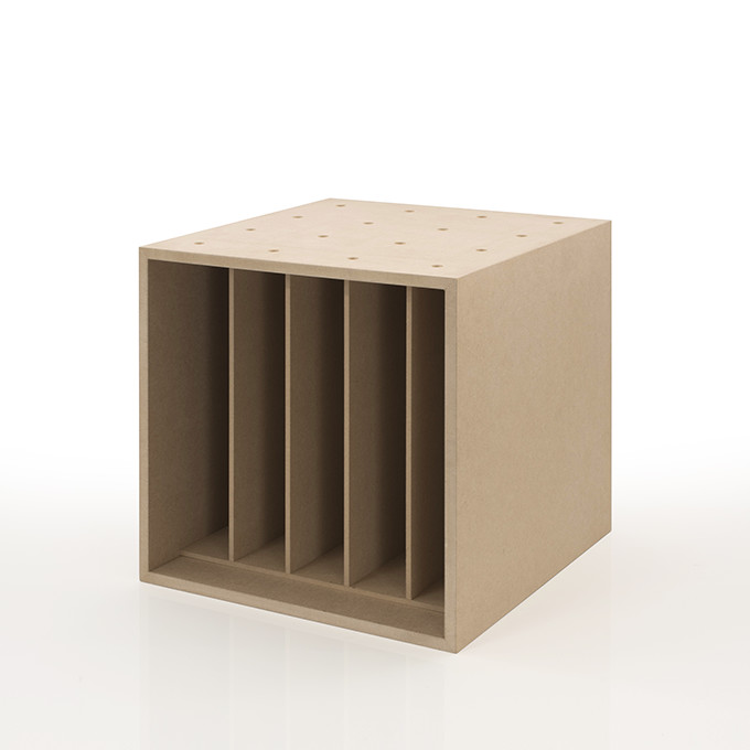 Margherita Storage Box Wooden Dividers Vinyl Record