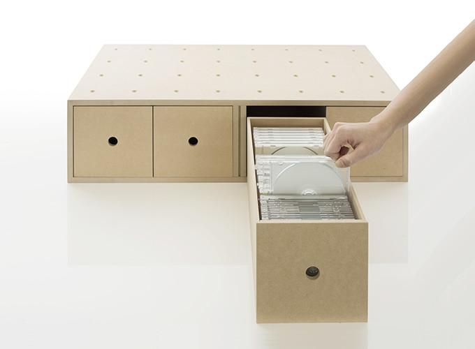 CD Storing Box CD Rack CD RACK Drawer Wooden (CD Box CD Storing CD Case  Storing Case Storing Box Chest Storing Shelf Color Box Storage Box Cube Box  Stacking ...