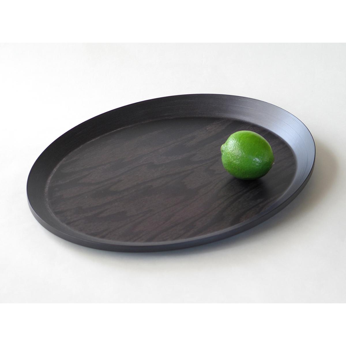 ブナコ TABLEWARE BLACK PLATE #117 oval /マルゲリータ