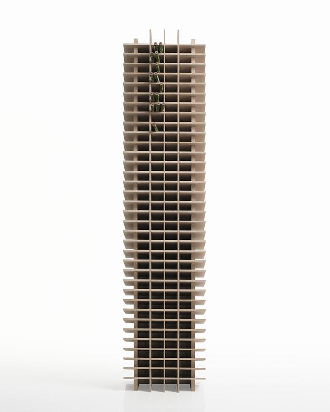 ペンスタンド 業務用 高さ900mmタイプ 木製(筆立て 鉛筆立て 色鉛筆 カラーマーカー 大容量 大量 プロ仕様 イラストレーター デザイナー オフィス収納)CRT-PS-900 /マルゲリータ