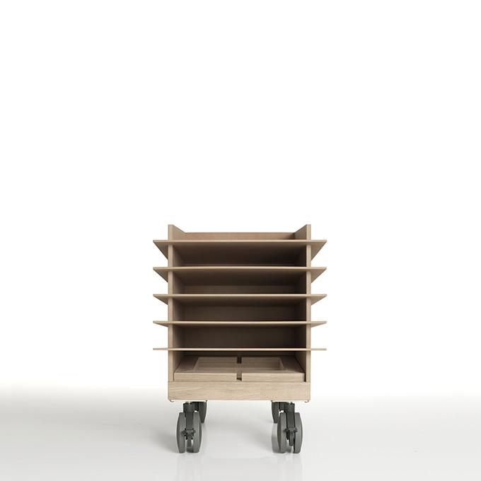 書類トレー A4 高さ300mmタイプ キャスター付き 木製(書類トレイ 書類ケース 書類収納 書類ラック 書類棚 書類入れ 書類整理棚 書類チェスト カタログスタンド カタログラック オフィス家具)CRT-TR-300-SET-01/マルゲリータ
