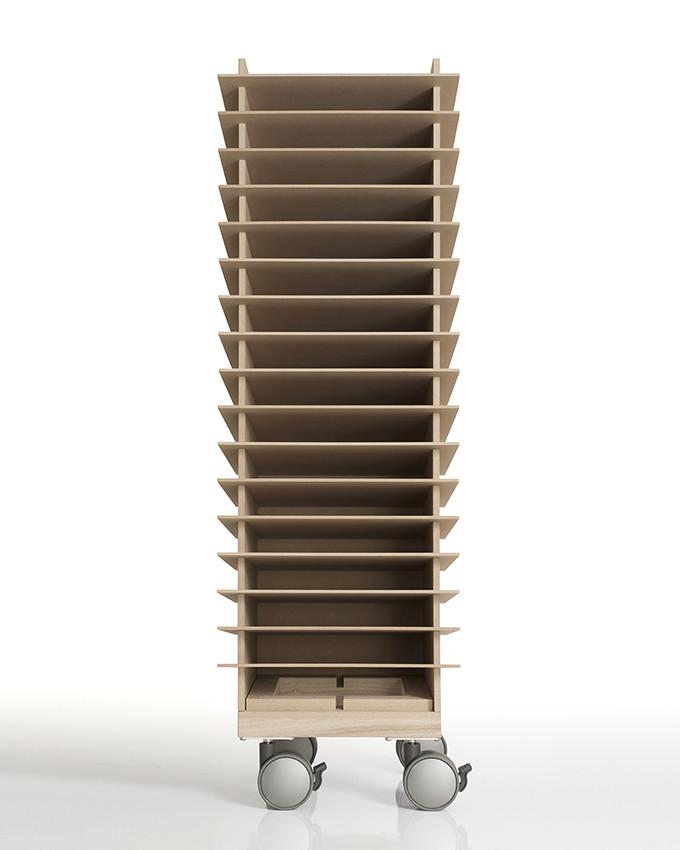 書類トレー A4 高さ900mmタイプ キャスター付き 木製(書類トレイ 書類ケース 書類収納 書類ラック 書類棚 書類入れ 書類整理棚 書類チェスト カタログスタンド カタログラック オフィス家具)CRT-TR-900-SET-01/マルゲリータ