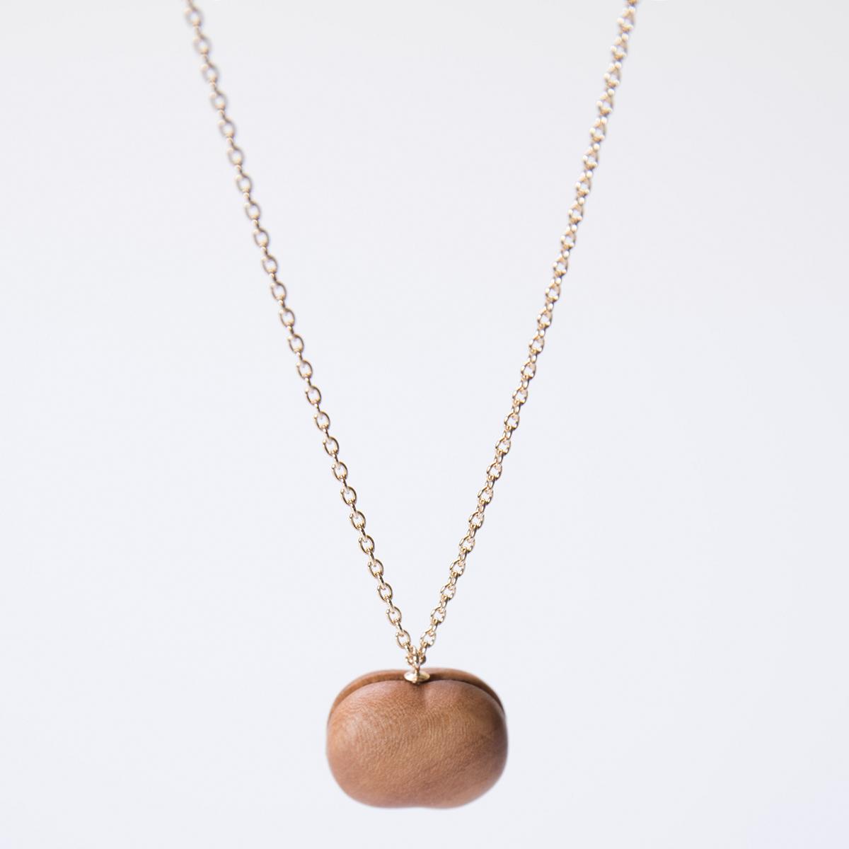 CHITOSE GRAIN S 一粒の小さなりんご ネックレス ショート 木村木品製作所 /マルゲリータ
