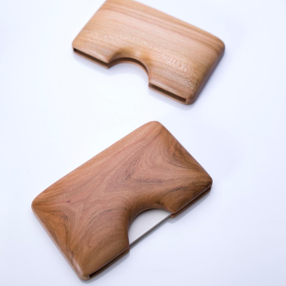 KIMURA WOODCRAFT FACTORY りんごの木の名刺入れ 木村木品製作所