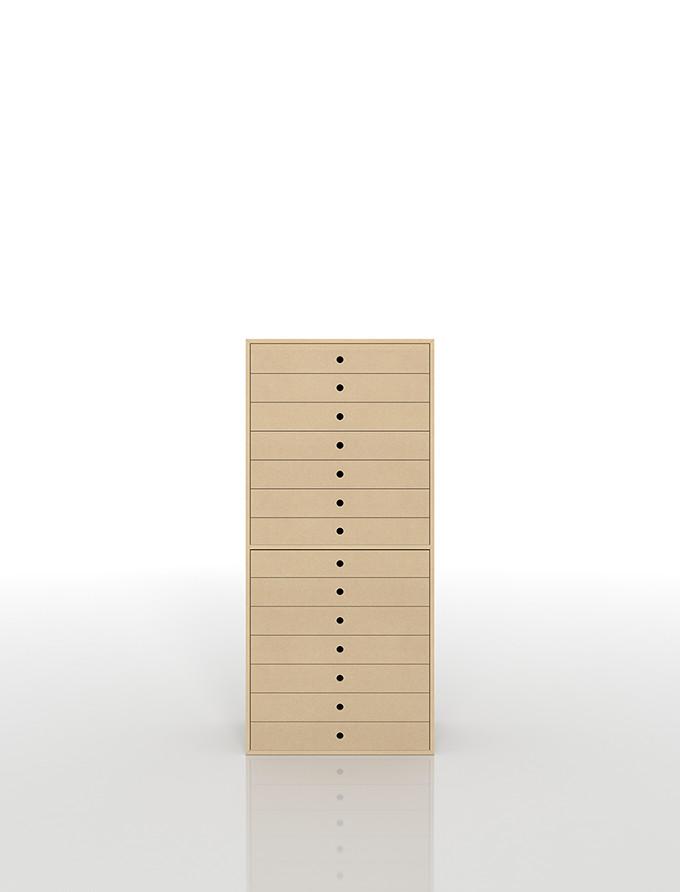 書類収納棚 A3 引き出し 木製 14段(書類棚 書類整理棚 書類ケース 書類ラック 書類入れ 書類チェスト キャビネット 引出し収納 オフィス家具 大容量 マップケース 図面棚)DRW-A3-14 /マルゲリータ