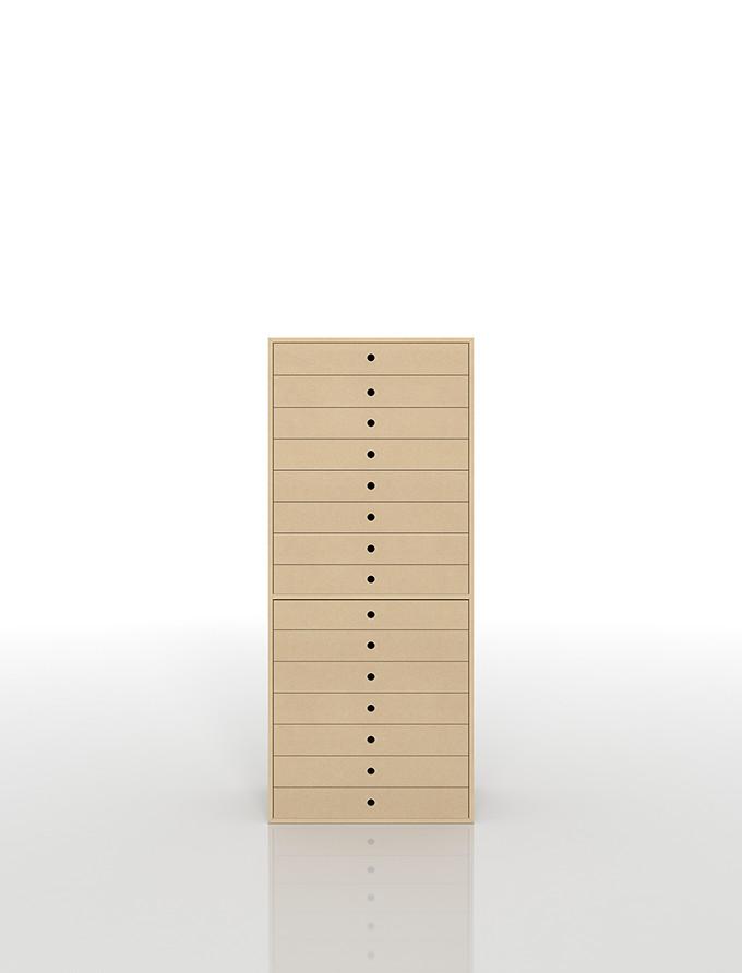 書類収納棚 A3 引き出し 木製 15段(書類棚 書類整理棚 書類ケース 書類ラック 書類入れ 書類チェスト キャビネット 引出し収納 オフィス家具 大容量 マップケース 図面棚)DRW-A3-15 /マルゲリータ