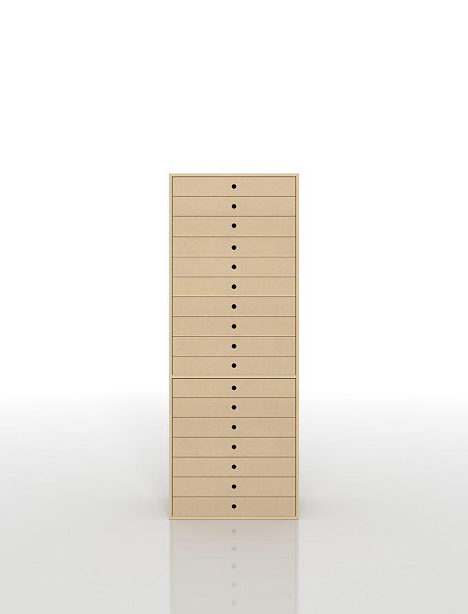 書類収納棚 A3 引き出し 木製 17段(書類棚 書類整理棚 書類ケース 書類ラック 書類入れ 書類チェスト キャビネット 引出し収納 オフィス家具 大容量 マップケース 図面棚)DRW-A3-17 /マルゲリータ