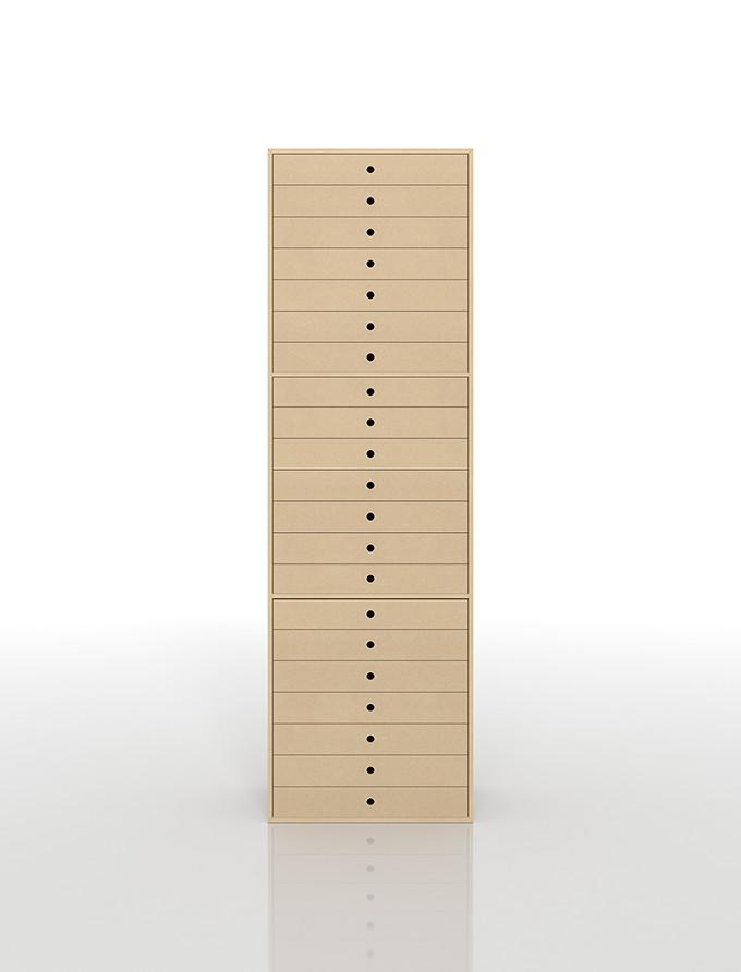 書類収納棚 A3 引き出し 木製 21段(書類棚 書類整理棚 書類ケース 書類ラック 書類入れ 書類チェスト キャビネット 引出し収納 オフィス家具 大容量 マップケース 図面棚)DRW-A3-21 /マルゲリータ