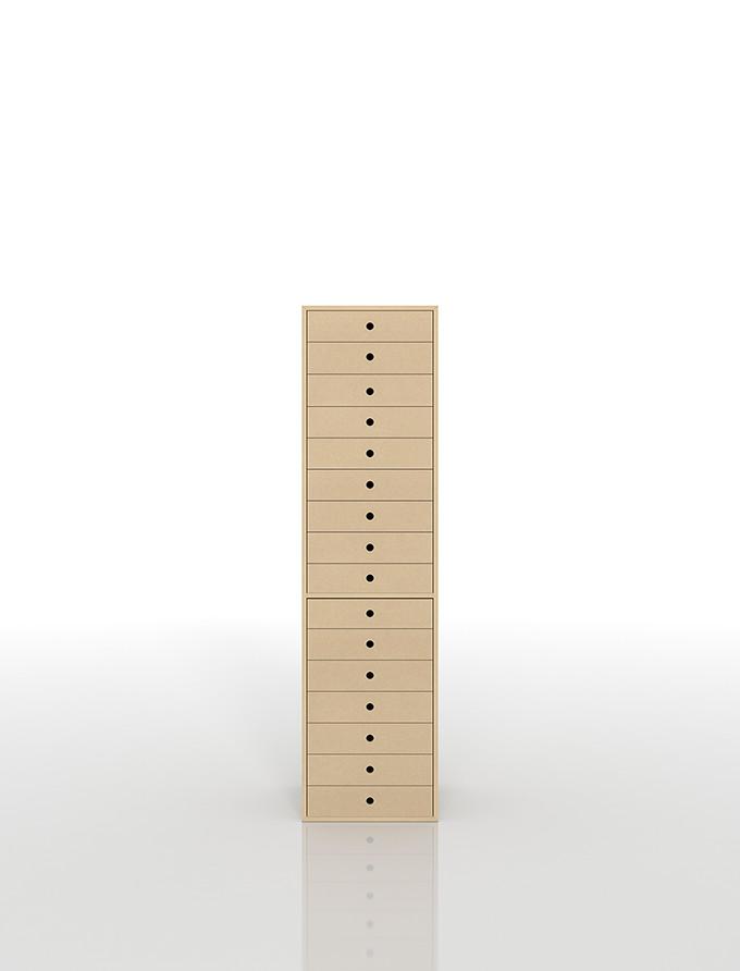 書類収納棚 A4 引き出し 木製 16段(書類棚 書類整理棚 書類ケース 書類ラック 書類入れ 書類チェスト キャビネット 引出し収納 オフィス家具 大容量)DRW-A4-16/マルゲリータ