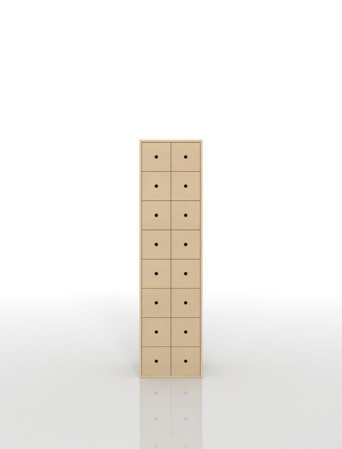 CDラック おしゃれ 大容量 CD収納引き出し 木製 2列×8段(CD 収納 引き出し ラック 収納ラック 棚 収納棚 CDラック 木製 タワー tower 大容量)DRW-CD-16 /マルゲリータ