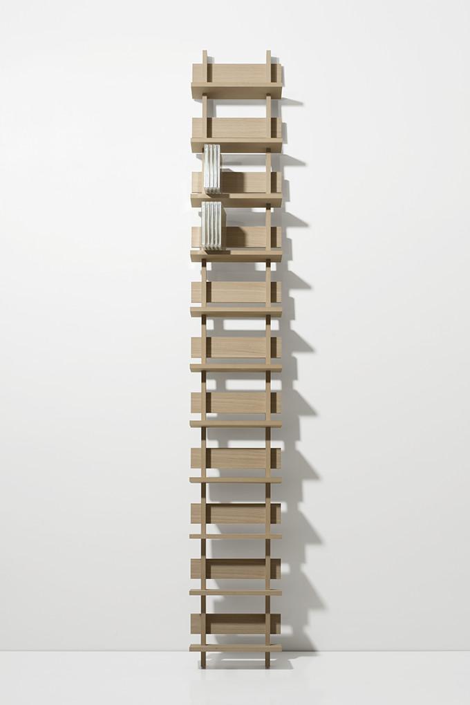 Cd Rack Wooden Dressing One Column Type Natural Storage Shelf Wall Mount Display Design Interior