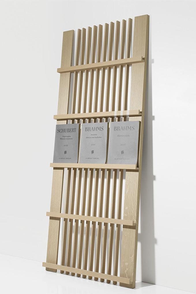Sheet Music Cabinets 3 Column Type (wooden Music Stand Display Rack)  MR 01 Ta / Margherita