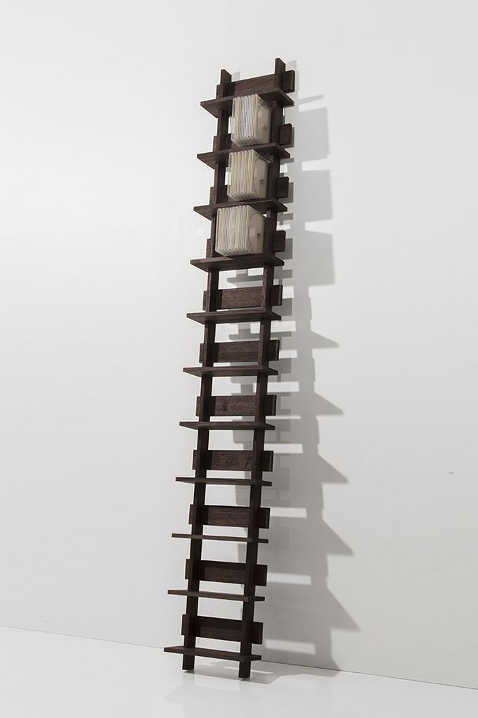 CDラック おしゃれ 大容量 ラック 木製 おしゃれ 1列タイプ(天然木集成材)ダークブラウン(CD-RACK CD収納 CD棚 壁掛け 壁面 壁 CD ディスプレイラック 収納ラック 収納棚 デザイン インテリア 送料無料)M-CD-05-S-EX/マルゲリータ