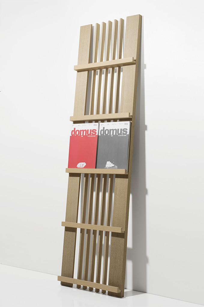 マガジンラック 2列タイプ(木製 おしゃれ パンフレットスタンド 壁掛け 壁 壁面 本 雑誌 収納 ディスプレイラック デザイン インテリア 大容量 送料無料)MR-01-W /マルゲリータ