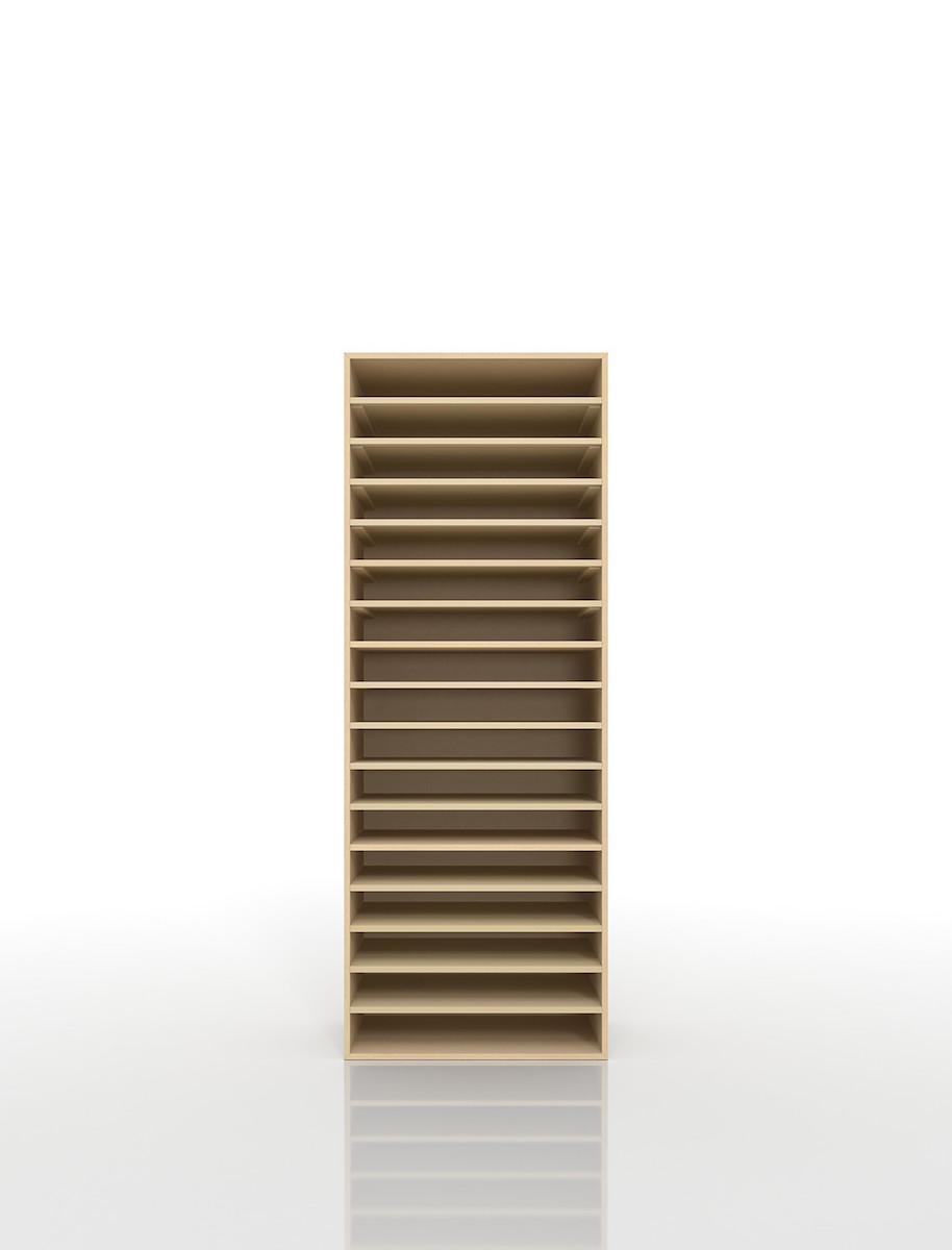 楽譜棚 楽譜 ピアノ A3 17段 木製(書類収納棚 書類整理棚 書類ラック 書類ケース 書類トレー 書類入れ マップケース 図面棚 オフィス家具 大容量 送料無料)/PNO-A3-17 /マルゲリータ