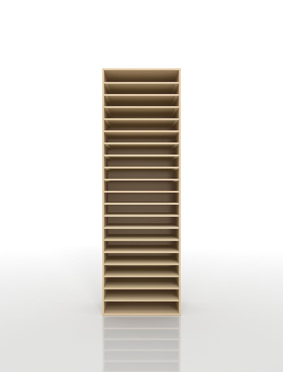 楽譜棚 楽譜 ピアノ A3 20段 木製(書類収納棚 書類整理棚 書類ラック 書類ケース 書類トレー 書類入れ マップケース 図面棚 オフィス家具 大容量 送料無料)/PNO-A3-20 /マルゲリータ