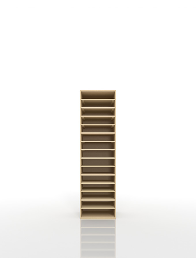 書類棚 A4 15段 木製(書類収納棚 書類整理棚 書類ラック 書類ケース 書類トレー 書類入れ 書類チェスト 書類ボックス オフィス家具 大容量 送料無料)/PNO-A4-15 /マルゲリータ