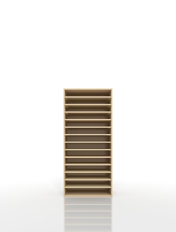 書類棚 A3 14段 木製(書類収納棚 書類整理棚 書類ラック 書類ケース 書類トレー 書類入れ マップケース 図面棚 オフィス家具 大容量 送料無料)/PNO-A3-14 /マルゲリータ
