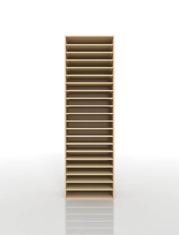 書類棚 A3 21段 木製(書類収納棚 書類整理棚 書類ラック 書類ケース 書類トレー 書類入れ マップケース 図面棚 オフィス家具 大容量 送料無料)/PNO-A3-21 /マルゲリータ