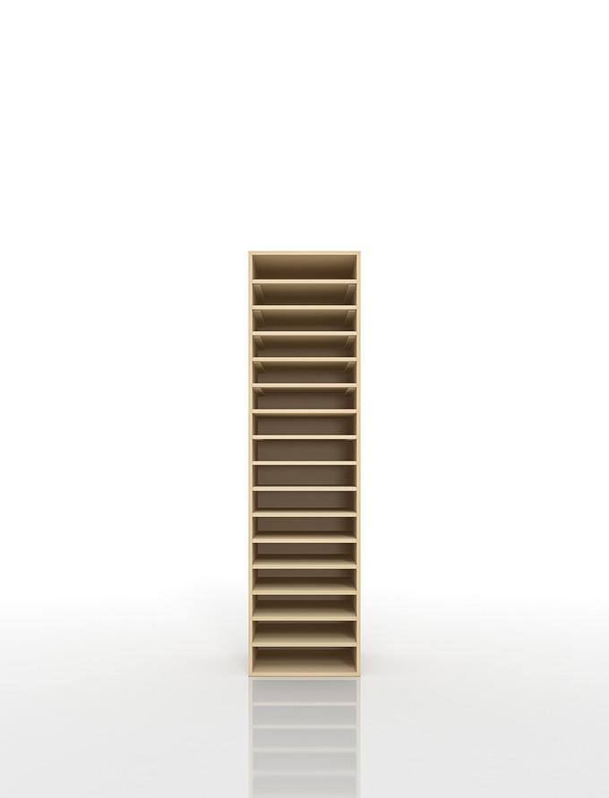 書類棚 A4 16段 木製(書類収納棚 書類整理棚 書類ラック 書類ケース 書類トレー 書類入れ 書類チェスト 書類ボックス オフィス家具 大容量 送料無料)/PNO-A4-16 /マルゲリータ