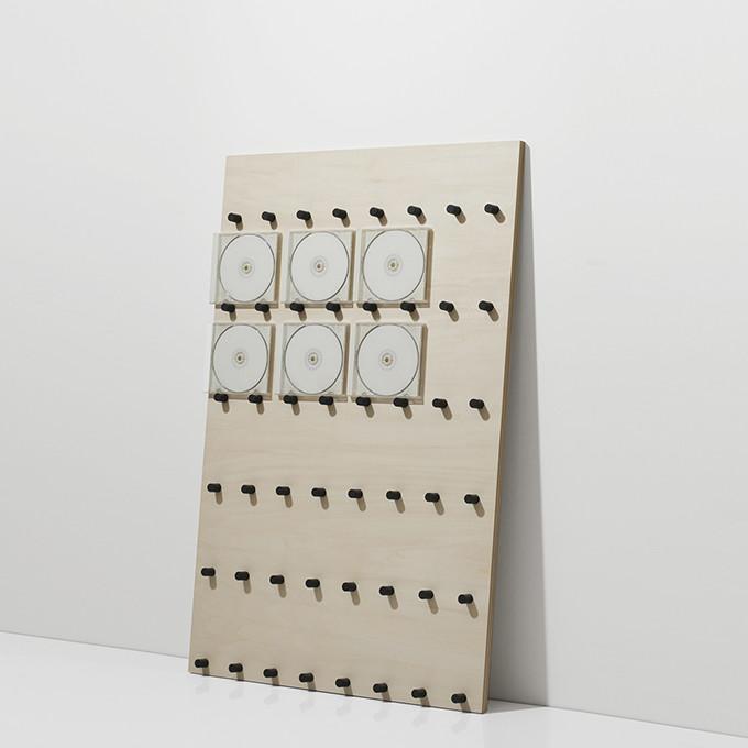 CDラック おしゃれ 大容量 ラック 木製 ロータイプ(CD-RACK CDを飾る CD ディスプレイ ラック ディスプレー 展示 見せる収納 おしゃれ デザイン インテリア 壁掛け 壁 壁面)CD-08 /マルゲリータ
