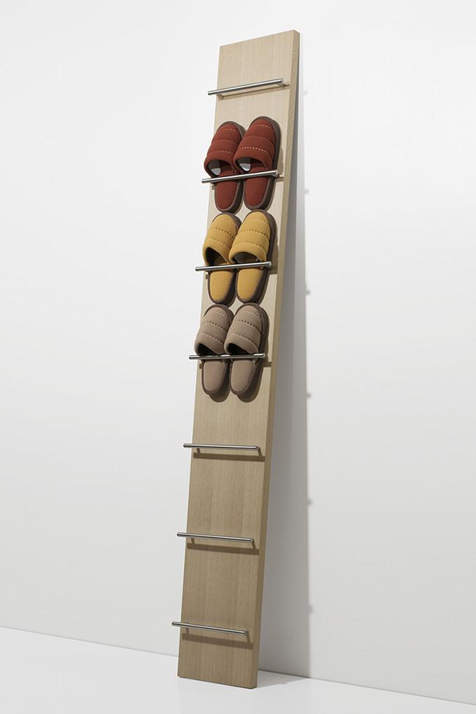 スリッパラック 木製 スリッパ立て スリッパスタンド スリッパ収納 スリッパたて デザイン おしゃれ タワー スリム おすすめ特集 引っ掛け SR-02 壁面 バータイプ 玄関収納 インテリア 薄型 壁 ファクトリーアウトレット 省スペース 壁掛け マルゲリータ 見せる収納
