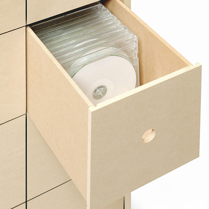 e8a6961e25 ... CDラックおしゃれ大容量木製キャスター付き引き出し16杯(CD-RACKCD収納 ...