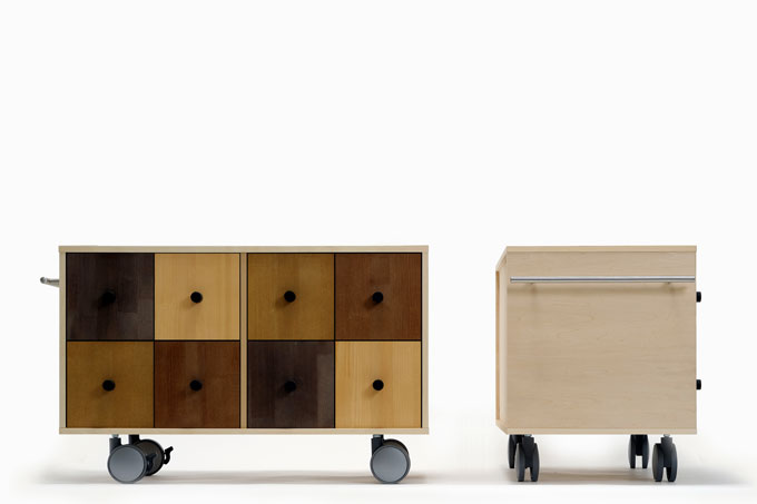 Cd Rack Low Storage Trundle Fashionable High Capacity Drawer Wooden 8 Tablespoons Shelf Cabinets Drawers Caster
