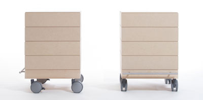 小物/衣類収納箱・4段セット/小・浅めタイプ(キャスター付き収納ボックス・キャスター・可動式・移動式・収納ケース・収納ラック・木製・送料無料)(BLC-04H×4・BLC-16-XL×4・SCS-04-C×1・ SCS-04-B×1) /マルゲリータ
