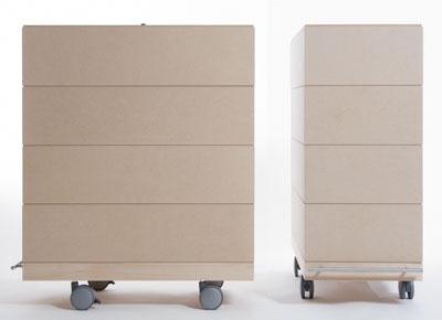A3書類収納箱・4段セット/大・深めタイプ(キャスター付き収納ボックス・キャスター・可動式・移動式・収納ケース・収納ラック・木製・送料無料・大容量)(BLC-16H×4・BLC-16-RO×4・SCS-16-C×1・ SCS-16-B×1) /マルゲリータ